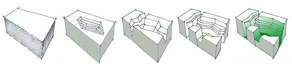 Concept architectural du concours pour le boulevard de Louvain et avenue du Prado à Marseille