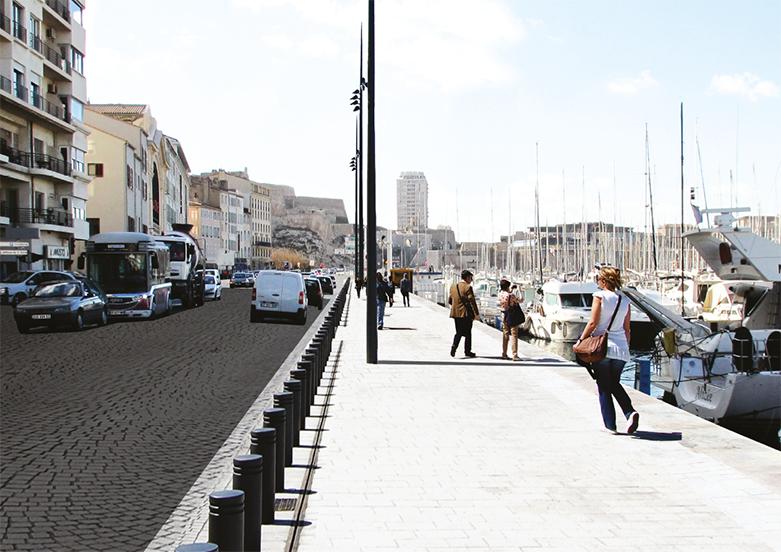 Piétonnisation Vieux-Port de Marseille Aménagement Phase 2 Tangram-Architectes