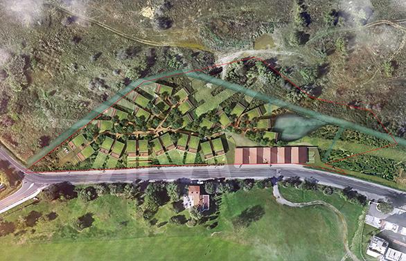 Implantation des logements vue du ciel / ©AMGraphisme pour Tangram