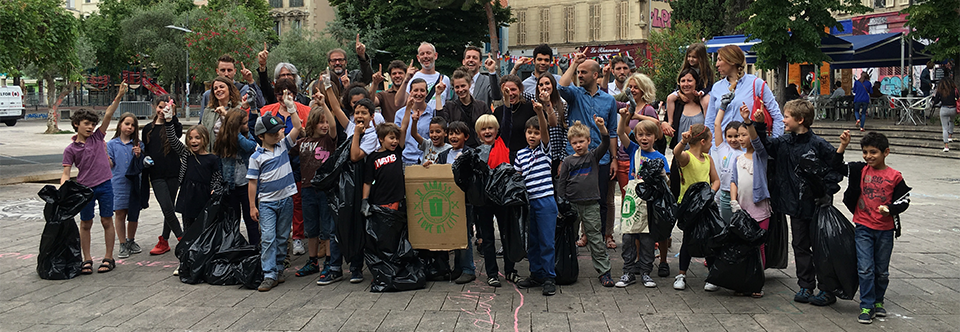 Tangram et l'école Eydoux récoltent 80 kg de déchets pour 1 Piece of Rubbish !