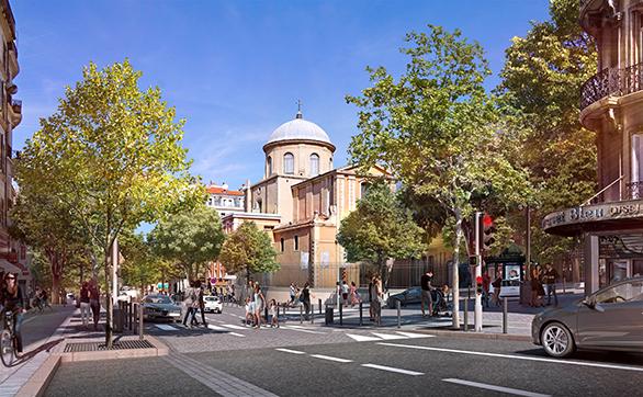 Requalification du Cours Lieutaud vue rue Cours Julien Tangram Marseille Urbanisme