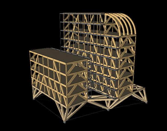 Tangram L'Arche de Julia Structure Bois Maquette ADIVbois