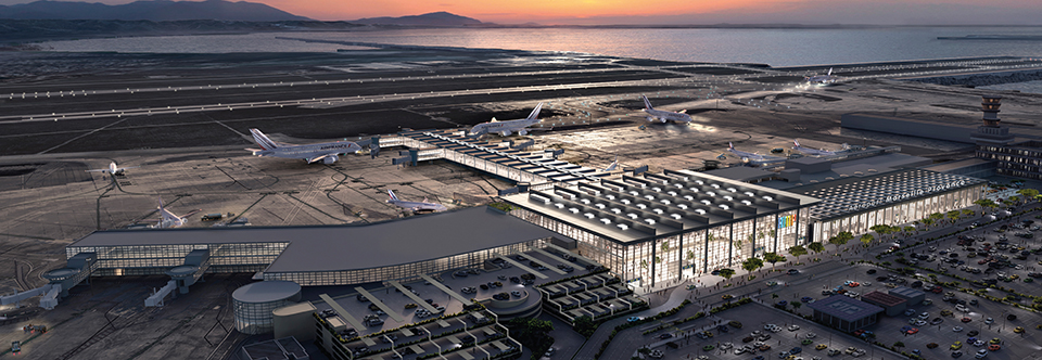 Le groupement Foster + Partners, Tangram Architectes, WSP, Airbiz, Cyprium et Eodd, lauréats de l'extension de l'Aéroport Marseille Provence